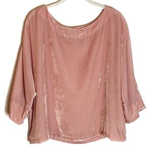 Cupcakes and Cashmere velvet blush pink top